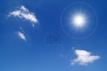 Photo for Sky with sun - Royalty Free Image