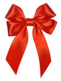 Bright red bow isolated