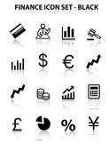 Reflect Finance Icon Set (Black)