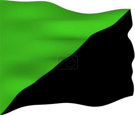 Photo pour Drapeau anarchiste vert utilisé par les écologistes sociaux, les anarchistes verts, les anarchistes anti-civilisation et les anarcho-primitivistes. Il est généralement pris pour symboliser un vi - image libre de droit