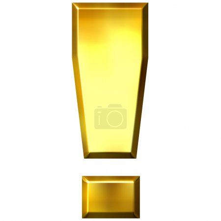 3D Golden Exclamation Mark