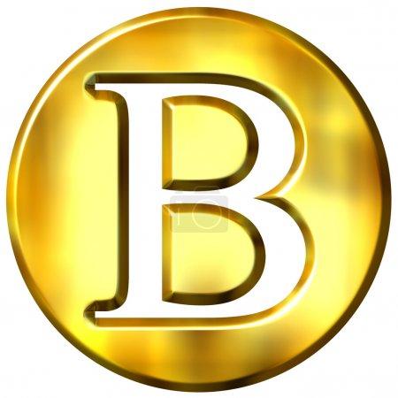 Letra de oro 3D B