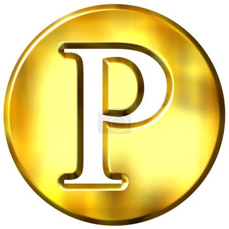 Letra de oro 3D P