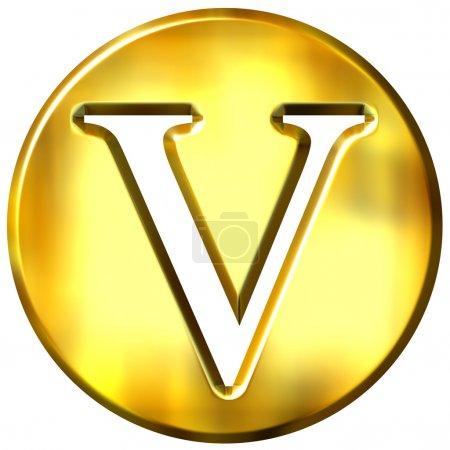 Letra de oro 3D V