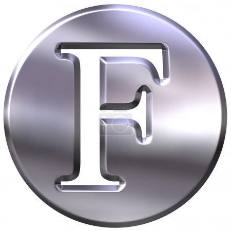 3D Silver Lettre F