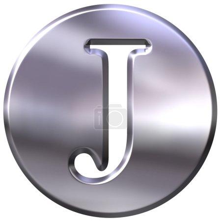 3D Silver Letter J