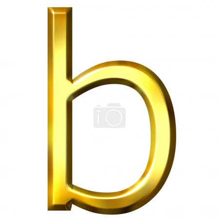 Photo for 3d golden letter b isolated in white - Royalty Free Image