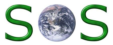 Photo pour Concept écologique isolé en blanc - image libre de droit