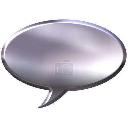 3D Silver Speech Bubble