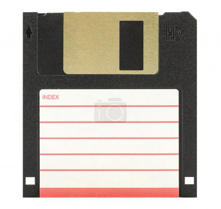 3.5'' inch floppy disk isolated in white...
