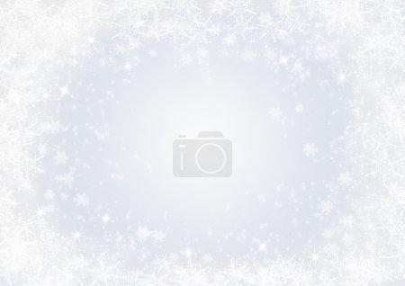 Photo pour Cadre de Noël avec espace pour un texte et une photo - image libre de droit