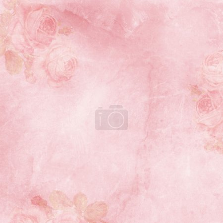 Vintage elegant background with rose...
