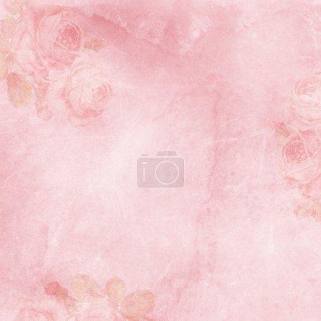 Photo pour Vintage fond élégant avec rose - image libre de droit