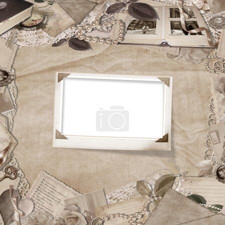 Photo pour Cadre élégant vintage avec espace pour un texte et une photo - image libre de droit