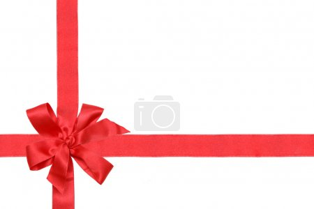 Gift red ribbon and bow