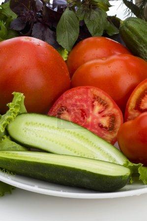 Restaurant menu: cutting vegetable