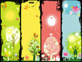 Easter banners with copy-space.
