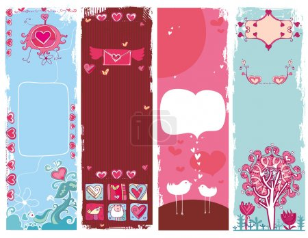 Set of Valentine's day banners 5