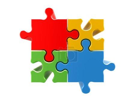 4 colors puzzle concept