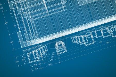Photo pour Modèle abstrait. mon projet architectural personnel. concept - image libre de droit