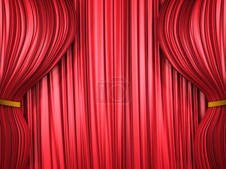Red curtain composition