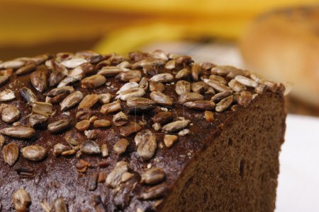 Photo for Heel of rye bread with sunflower seed - Royalty Free Image