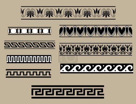 Illustration for Traditional architectural ornament set for design - Royalty Free Image