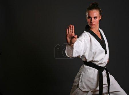 Girl in white kimono