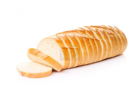 Photo for Sliced bread isolated on white - Royalty Free Image