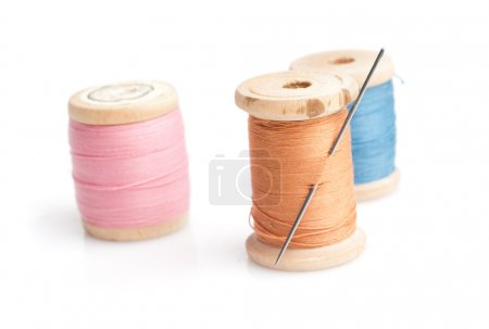 Sewing needle and threads