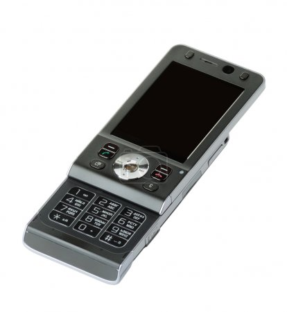 Photo pour Téléphone mobile isolé sur blanc - image libre de droit