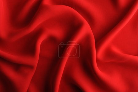 Photo pour Fond satin rouge - image libre de droit
