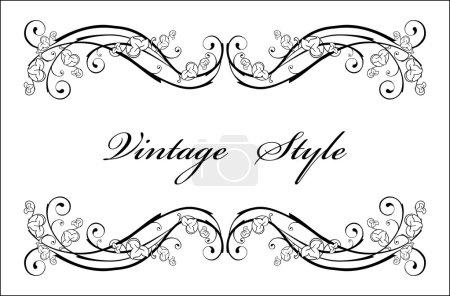 Illustration for Classical vignette - Royalty Free Image
