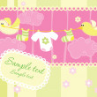 Baby girl arrival announcement card...