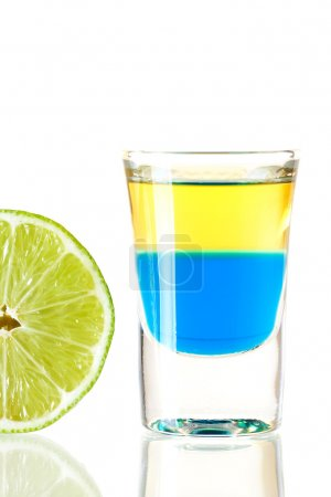 Shot cocktail collection: Blue Tequila