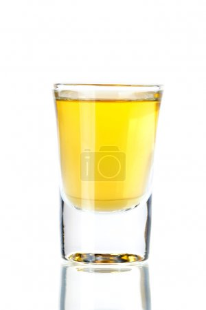 Photo for Shot cocktail collection: Gold Tequila isolated on white background - Royalty Free Image