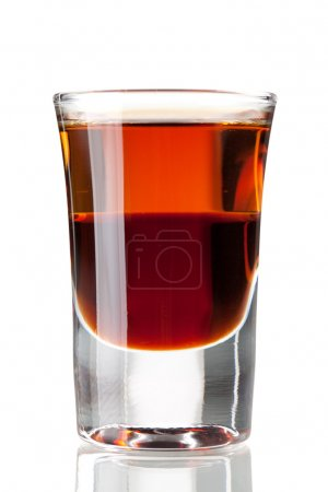 Photo for Cocktail collection: Two layered shot. Isolated on white background - Royalty Free Image