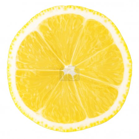 Photo for Macro food collection - Lemon slice. Isolated on white background - Royalty Free Image