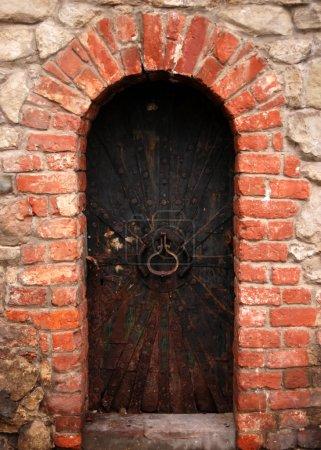 Old metal door background