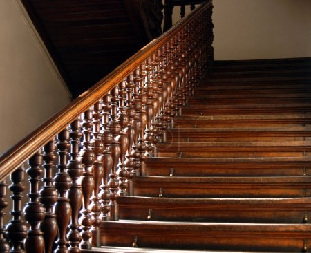Photo for Wood stairs backround - Royalty Free Image