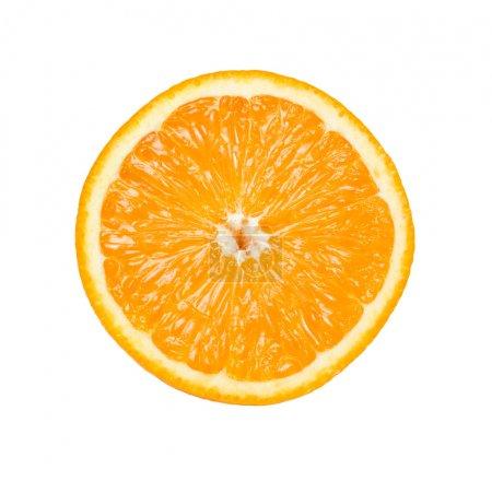 Photo pour Couper l'orange mûre. isolé sur blanc. - image libre de droit