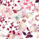 Vector seamless pattern displaying Japanese garden...