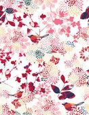 Vector seamless pattern displaying Japanese garden