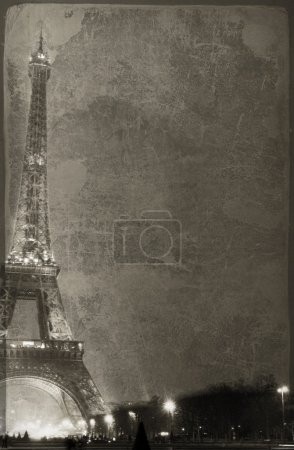 Photo for Old-fashioned Eiffel Tower - paris France - Royalty Free Image