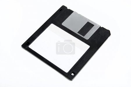 Floppy disk isolated on white. Photo....