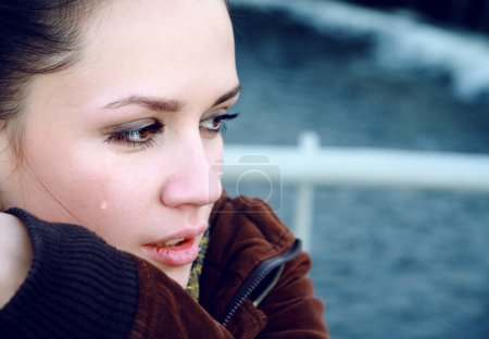 Photo for Crying beautiful woman photo - Royalty Free Image