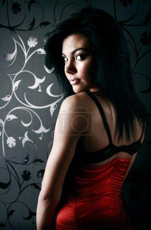Dark portrait of a beautiful girl
