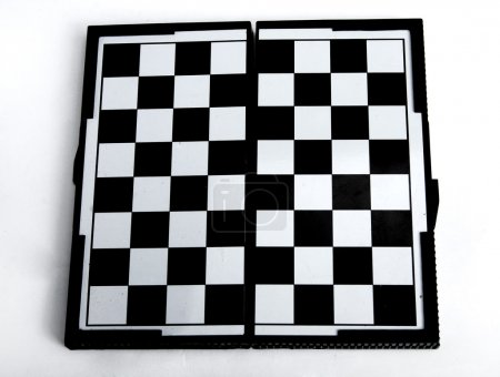 Chess board on white background.