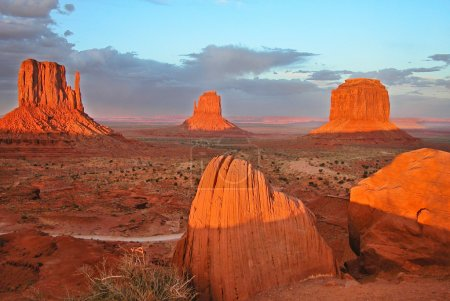 Sunset in Monument Valley National Park,