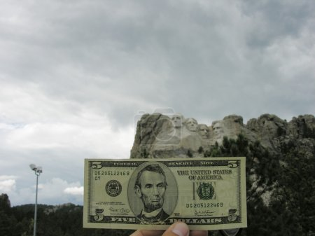 A buck at Mount Rushmore, 2005